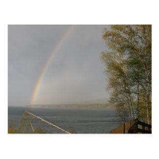 Rainbow over Lake Superior Postcard