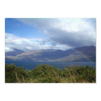 Rainbow over Lake Wanaka, New Zealand 5x7 Paper Invitation Card
