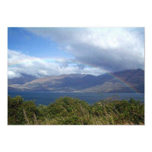 Rainbow over Lake Wanaka, New Zealand Card