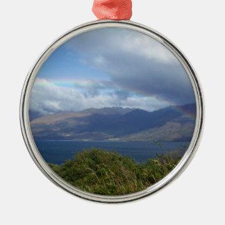 Rainbow over Lake Wanaka, New Zealand Ornaments