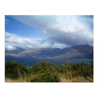 Rainbow over Lake Wanaka, New Zealand Postcard