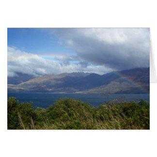 Rainbow over Lake Wanaka, NZ Card