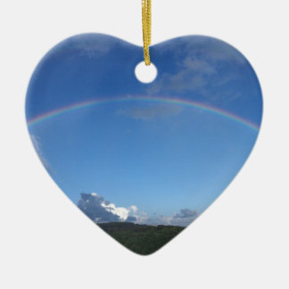 Rainbow over Manoa town on the island of Oahu. Ornament