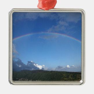 Rainbow over Manoa town on the island of Oahu. Ornaments