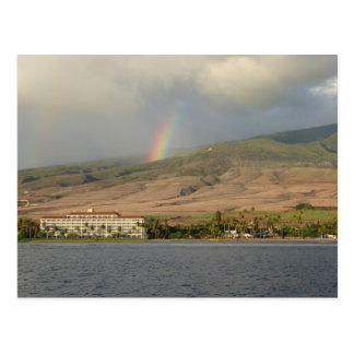 Rainbow over Maui Postcard