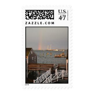 Rainbow over Nantucket Harbor Postage Stamps