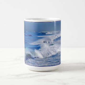 Rainbow over Ocean Waves Mug