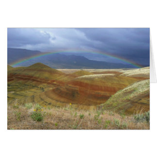 Rainbow Over Painted Hills Card