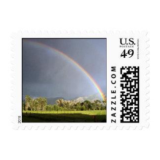Rainbow Over Pastureland Postage