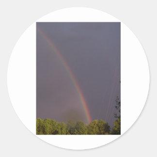 Rainbow Over Stark City Classic Round Sticker