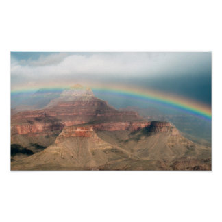 Rainbow over the Grand Canyon Print