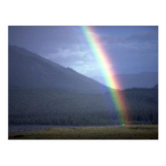 Rainbow over the Mountain River, NWT, Canada Postcard