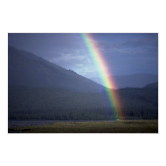 Rainbow over the Mountain River, NWT, Canada Posters
