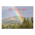 "Rainbow Over the Mountains 5"" X 7"" Invitation Card"