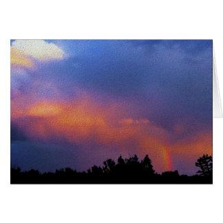 rainbow over the ortiz mountains card