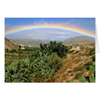 Rainbow over the Rambla de Oria, Andalucia, Spain Card