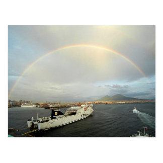 Rainbow over Vezuvius Postcard