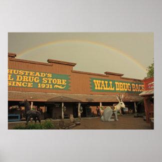 Rainbow Over Wall Drug Poster