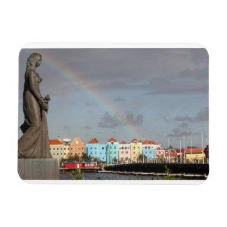 Rainbow over Willemstad Curaçao Magnet