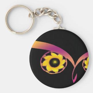 rainbow owl keychain