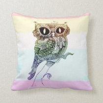 Rainbow Owl - Pillow