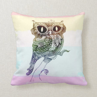 Rainbow Owl - Pillow