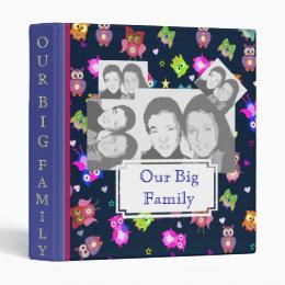 Rainbow owls big family with sample photos 3 ring binder