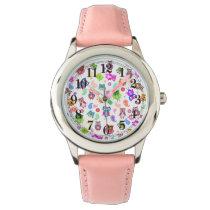 Rainbow owls caleidoscopio wristwatch