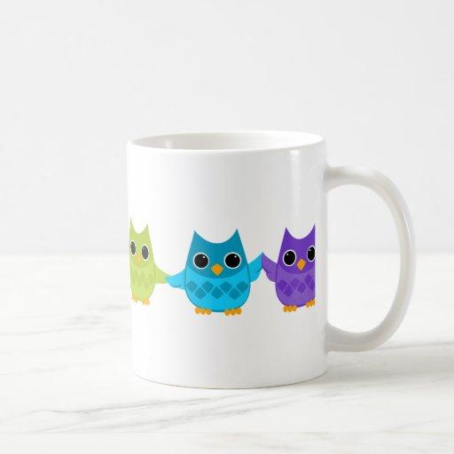 Rainbow Owls Coffee Mugs