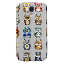 Rainbow owls - grey samsung galaxy s4 cover
