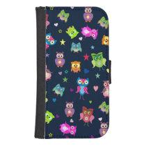 Rainbow  Owls hearts stars Phone Wallet