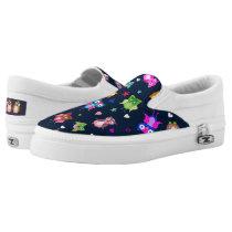 Rainbow owls hearts, stars Slip-On sneakers