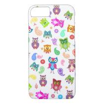 Rainbow owls iPhone 8/7 case