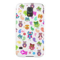 Rainbow owls - light galaxy s5 cover