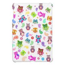 Rainbow owls - light iPad mini covers