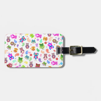 Rainbow owls - light tag for luggage