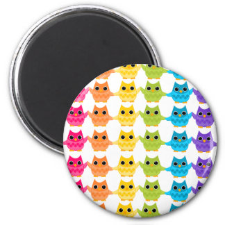 Rainbow Owls Magnet