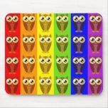 Rainbow Owls Mousepad