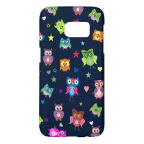 Rainbow owls pattern samsung galaxy s7 case