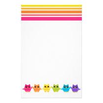 Rainbow Owls Stationery