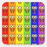 Rainbow Owls Stickers