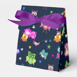 Rainbow Owls  watercolor Favor Box
