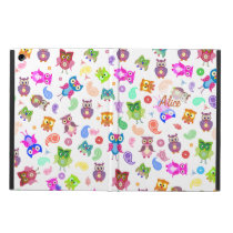 Rainbow owls white case for iPad air