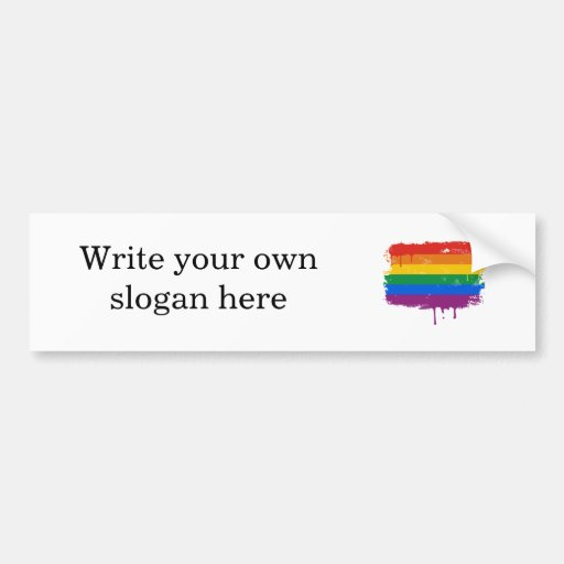 Rainbow Paint Bumper Stickers