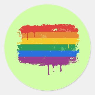 Rainbow Paint Classic Round Sticker