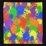 "Rainbow Paint Colorful Bandana For People &amp; Pets<br><div class=""desc"">Rainbow Paint Colorful Bandana For People &amp; Pets</div>"