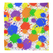 Rainbow Paint Colorful Bandana For People & Pets