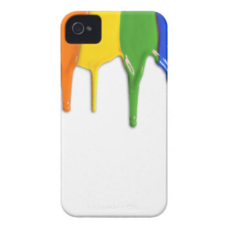 RAINBOW PAINT DRIPPINGS --.png Blackberry Cases