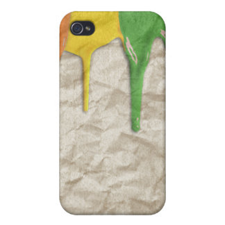 RAINBOW PAINT DRIPPINGS --.png iPhone 4/4S Cases