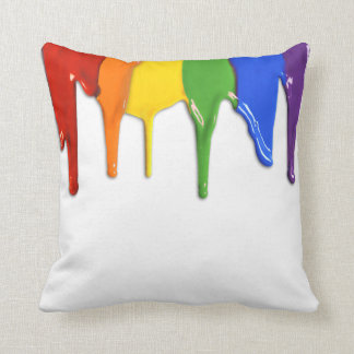 RAINBOW PAINT DRIPPINGS --.png Pillows